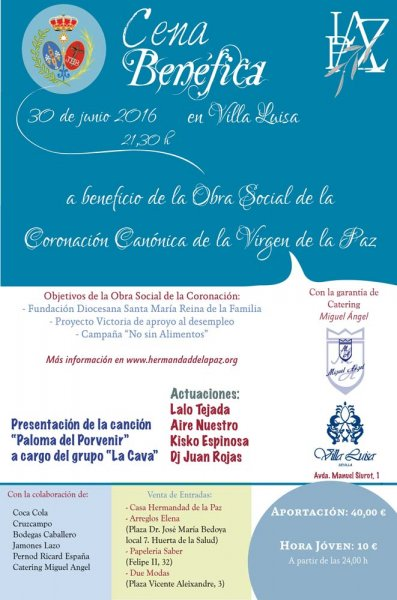 20160602 CartelCenaBeneficaI